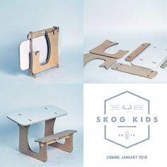 Skog Kids creates stylish and comfortable flatpacked furniture for children.