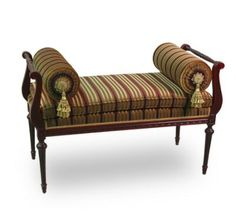 Image detail for -louis xvi bench fine hand carved reproduction period furniture louis ... I would love this in ivory.