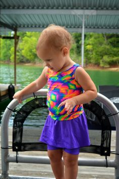 The Imaginative Seamstress: Girls Scrunch Top and Bottoms. Modest Swimwear. Modest Swimsuit