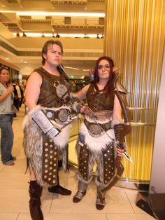 Skyrim Nord and Bosmer armor cosplay Dragon*Con 2013
