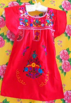 amor mexican embroidered baby dress - for Naya