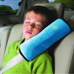 1 unids Niños/de Coche de Niño Suave Cinturón de Seguridad Del Asiento Reposacabezas Del Vehículo Almohadas Cuello Correa de Hombro Del Cojín Del amortiguador Suave cinturón de seguridad