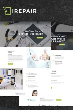 #Electronics #Repair #WordPress #Theme.Need a stylish theme to take your electronics repair business online? Meet this fully responsive and truly crossbrowser compatible iRepair in all its glory! This mobile repair WordPress theme has everything to help you present yourself professionally. Based on Cherry Framework 5, iRepair allows you to showcase the whole range of your services, the team of your repair geeks, clients' feedback about your work, and even more! Here you get a rich choice…