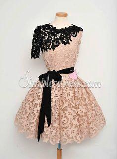 Simple-dress Unique Black One-shoulder Short A-line Homecoming Dresses/Party Dresses  LAHD-70825