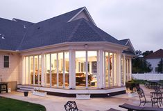 New Jersey home with a 47 panel enclosed back porch. #foldingdoors #slidingdoors #backporch #homeremodel #activwall