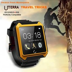 Original UTerra Smart Bluetooth SMS Wristwatch Sports Outdoor Watch  Worldwide delivery. Original best quality product for 70% of it's real price. Buying this product is extra profitable, because we have good production source. 1 day products dispatch from warehouse. Fast & reliable...