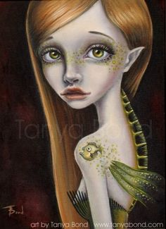 Juno - mermaid - Print of oil painting by Tanya Bond. Starting at $5 on Tophatter.com!