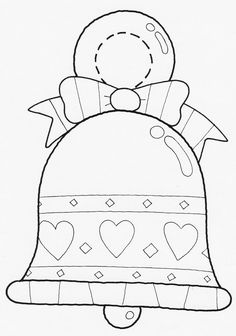 Holiday ornament Coloring Page New Pin by Queval Géraldine On Noel Christmas Colors, Christmas Art, Christmas Projects, Christmas Lights, Christmas Templates, Christmas Printables, Christmas Patterns, Felt Ornaments, Holiday Ornaments
