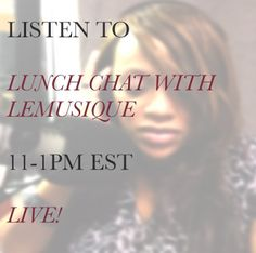 """""""Good R&B Music"""" TODAY's Topic on """"Lunch Chat w/ LEMUSIQUE""""* CALL IN: 844-976-9136 LISTEN live on +iHeartRadio: http://www.iheart.com/live/wrnw-am1100-5789/ Featuring the music of: Natalie & Nat King Cole, Etta James, Roberta Flack, Baby Face, Michael Jackson and others. #wrnw1radio #goodmusic"""