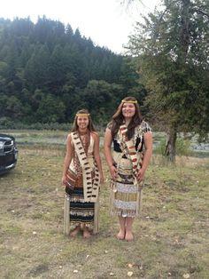 Hupa girls tradition dance
