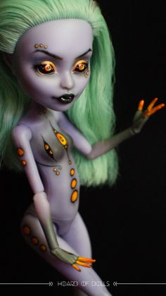 #doll #dolls #repaint #remake #custom #aesthetic #monster #high #monsterhigh #ooak