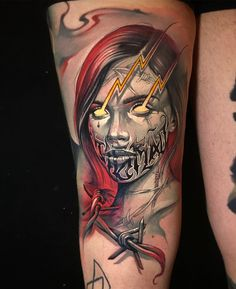 Tattoo artist Benjamin Laukis color realism tattoo in the authors style