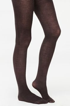 Ribbed wool tights