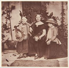 Queen Victoria's first three daughters, September 1853. Left to right: Princess…