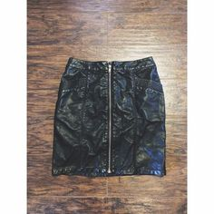 Faux leather mini skirt. Worn once. Runs small. Perfect condition. H&M Skirts Mini