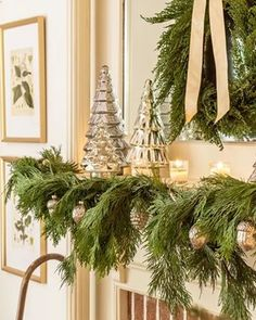 Our Classic Christmas Home Tour - Sincerely, Marie Designs Christmas Bedroom, Christmas Home, Christmas Villages, Victorian Christmas, Christmas Christmas, Vintage Christmas, Christmas Crafts, Southern Christmas, Silver Christmas