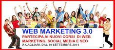 """Hai un'attività e vuoi pubblicizzarla su internet? Vuoi realizzare un Sito Web o un Blog e non sai come fare? Vuoi sfruttare al meglio le potenzialità di internet e facebook senza dover ricorrere a costose agenzie? Vuoi risparmiare soldi e fatica?  Nei nostri corsi farai questo e molto di più.  In """"WEB MARKETING 3.0"""" tutti gli strumenti e le strategie per creare il tuo business e per nuove opportunità di lavoro."""