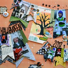 Halloween 2012 - by Paige Evans using the Pumpkin Patch collection from American Crafts. #scrapbooking #layout #halloween #autumn #kids