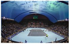 Coming soon: an underwater tennis court! Polish architect Krzysztof Kotala,Coming soon: an underwater tennis court! Polish architect Krzysztof Kotala, owner of 8 + 8 Concept Studio in Warsaw, wants to build a tennis court off the coast of Dubai. Dubai Attractions, Beneath The Sea, Tennis Center, Tennis Championships, Tennis Match, Architect Design, Ocean Life, Ocean Art, Mexico City