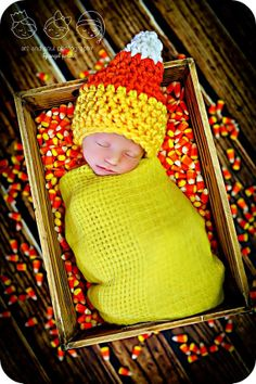 Newborn Baby Photo Prop Candy Corn Hat