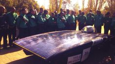 In the NWU's solar car won the solar challenge! Image supplied by North-West University.