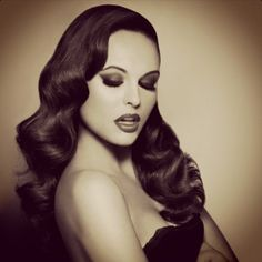 Vintage hair, I want my hair to look like this for the wedding... Maybe even makeup too