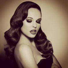 Vintage hair, very Jessica Rabbit-esque