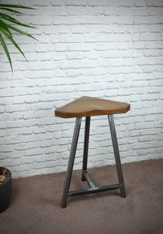 Reclaimed Ash and Steel Bar Stools, Vintage Industrial Chic by escafell on Etsy https://www.etsy.com/uk/listing/475574583/reclaimed-ash-and-steel-bar-stools