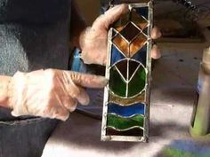 (L) Stained glass tip on antique finish.wmv