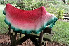 Ravelry: Watermelon Shawl pattern by Liz Capik