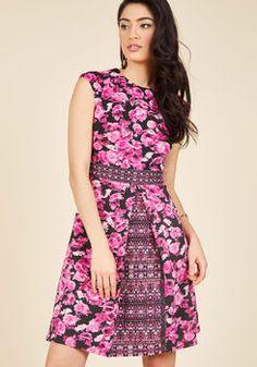 Tropical Getaway Planner Floral Dress