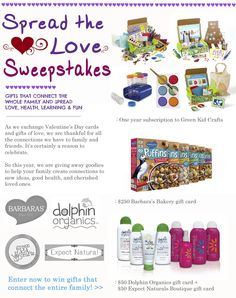 Green Kid Crafts Spread the Love Sweepstakes