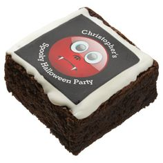 Fun personalized vampire Halloween party Brownie