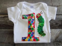 The Very Hungry Caterpillar Birthday Onesie-Eric Carle-First Birthday Party