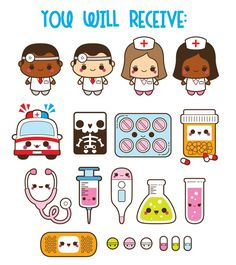 Kawaii Hospital Clipart Kawaii Doctor Clipart Medical - Kawaii Hospital Clipart Kawaii Doctor Clipart Medical Clipart Healthcare Clip Art Kawaii Pills Clipart Health Commercial Use Home Appliances Insurance Comparison Planner Doodles Printable Stic Kawaii Doodles, Cute Kawaii Drawings, Clipart, Planner Stickers, Nurses Week Quotes, Kawaii 365, Thé Illustration, Doctor Drawing, Cute Fonts