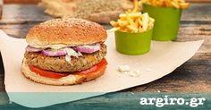 Μπέργκερ με νηστίσιμο μπιφτέκι λαχανικών από την Αργυρώ Μπαρμπαρίγου | Νόστιμο burger σε vegetarian εκδοχή, ιδανικό για χορτοφάγους και για όσους νηστεύουν