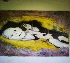 Bebé antisistema. Pintura 150x100cm #bebes ,#baby ,#antisistema ,#protest ,#protesta ,#demostration ,#demostración ,#democracy ,#democracia ,#derecho ,#recht ,#malerei ,#painting ,#pintura,#artecontemporaneo ,#contemporaryart ,#arteurbano ,#urbanart ,#violetaparra ,#graciasalavida ,#tecnicamixta ,#soto ,#ichbinsoto ,#passau ,#badgriesbach ,#niederbayern