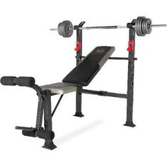 CAP Strength Deluxe Standard Bench With 100 LB Cast Iron Weight Set for sale online Weight Bench Set, Weight Set, Home Strength Training, Strength Training Equipment, Bench Press Set, Home Gym Set, Cast Iron Bench, Bars For Home