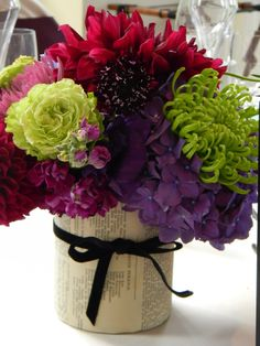 These remind me of my wedding flowers and colors!  :-)