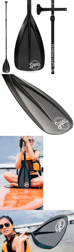 Stand Up Paddles 177505: Carbon Fiber Sup Paddle - 3-Piece Adjustable Stand Up Paddle - Super Paddles ... -> BUY IT NOW ONLY: $138.13 on eBay!