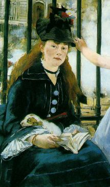"""Painting by Édouard Manet, 1872,  Victorine Meurent ( This is the last portrait Manet did of her. She was her favorite model and she on the paintings: """"Le déjeuner sur l'herbe"""" and """"Olympia"""".)"""