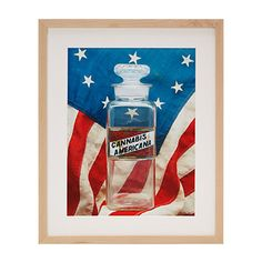 Set against a backdrop of a 13-star, colonial-style flag made in the early 20th century, this image serves as both an educational and intriguing touch of history for your home.