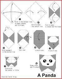 origami facile panda. Black Bedroom Furniture Sets. Home Design Ideas