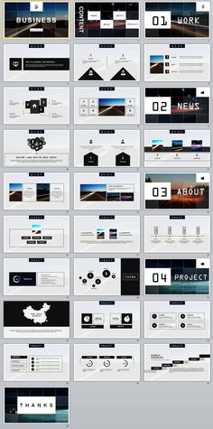 28+ gray business PowerPoint Templates