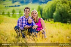A family and their young child at the Snowmass Golf Course