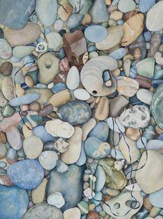 Pescadero Beach Pebbles, Gayle Mahoney