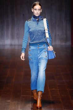 See all the Collection photos from Gucci Spring/Summer 2015 Ready-To-Wear now on British Vogue Spring Fashion, Fashion Show, Gucci Spring, Mode Jeans, All Jeans, Milano Fashion Week, Milan Fashion, Runway Fashion, 2015 Trends