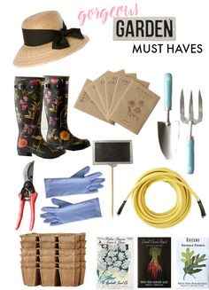 Gorgeous gardening must haves for a green-thumb in training!