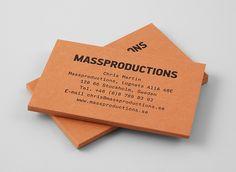 Massproductions designed by Britton Britton. #Logo #Branding #Design #BusinessCard