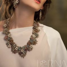 Full-on #colours #necklace and #earrings #frivolite #set by @lorinabijoux always light weight and comfortable to wear. #romantic #feminine #look #style #Paris #handmade #jewellery #collection #London - #spring is here!
